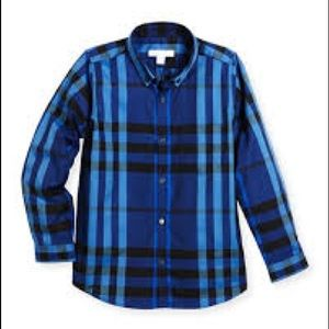 Burberry Boys blue checked shirt size 3T